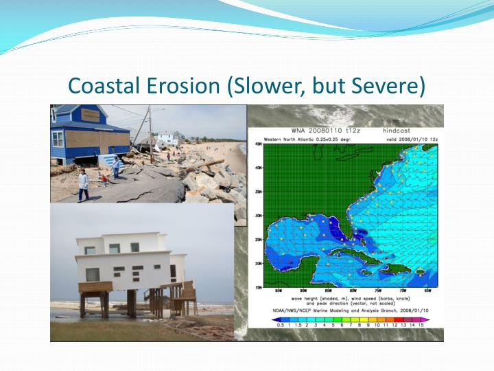 Coastal Erosion (Slower, but Severe)