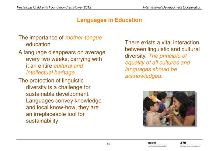Languages in Education