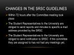 changes in the srsc guidelines1