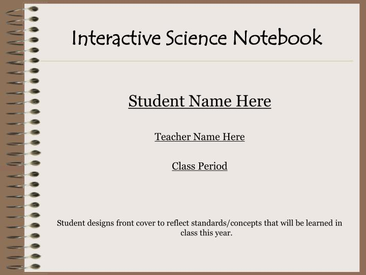 interactive science notebook n.