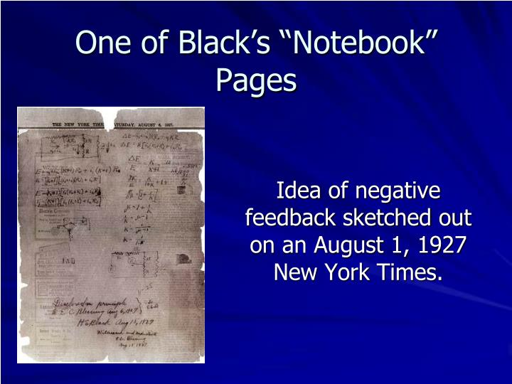 """One of Black's """"Notebook"""" Pages"""