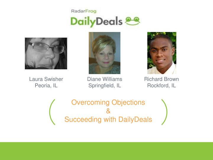 overcoming objections succeeding with dailydeals