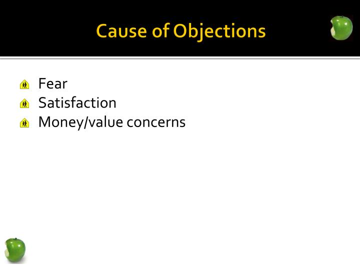 Cause of Objections