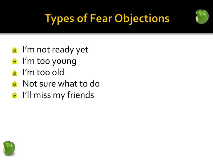 Types of Fear Objections