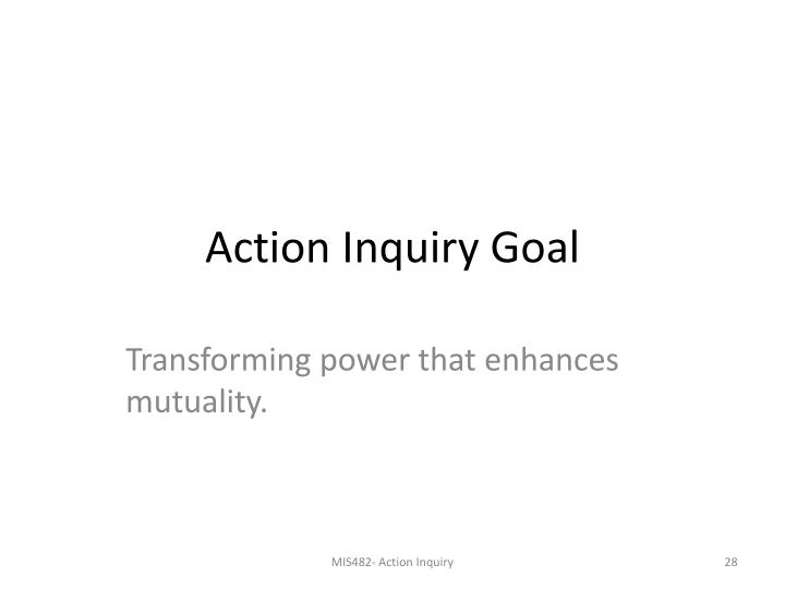 Action Inquiry Goal
