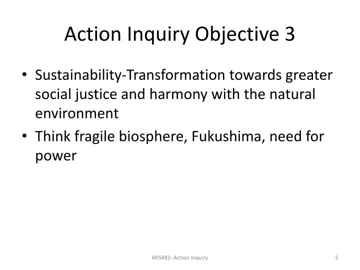 Action Inquiry Objective 3