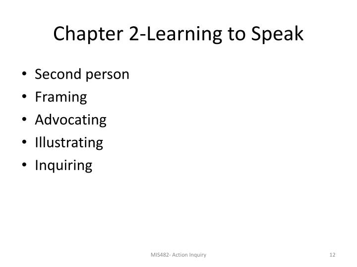 Chapter 2-Learning to Speak