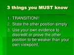 3 things you must know