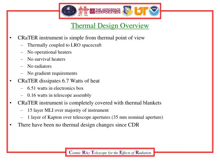 Thermal Design Overview