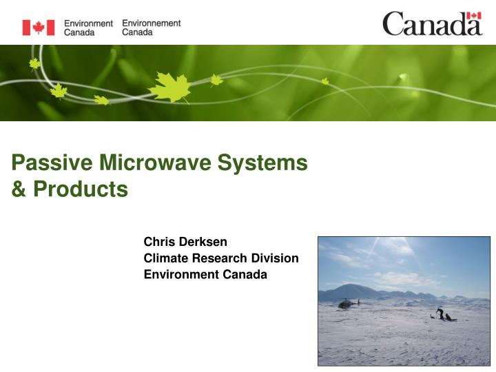 Passive microwave systems products
