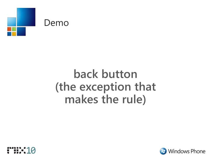 back button