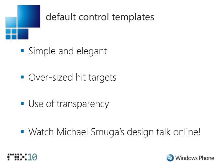 default control templates