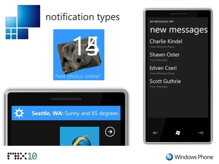 notification types