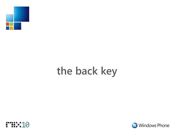 the back key