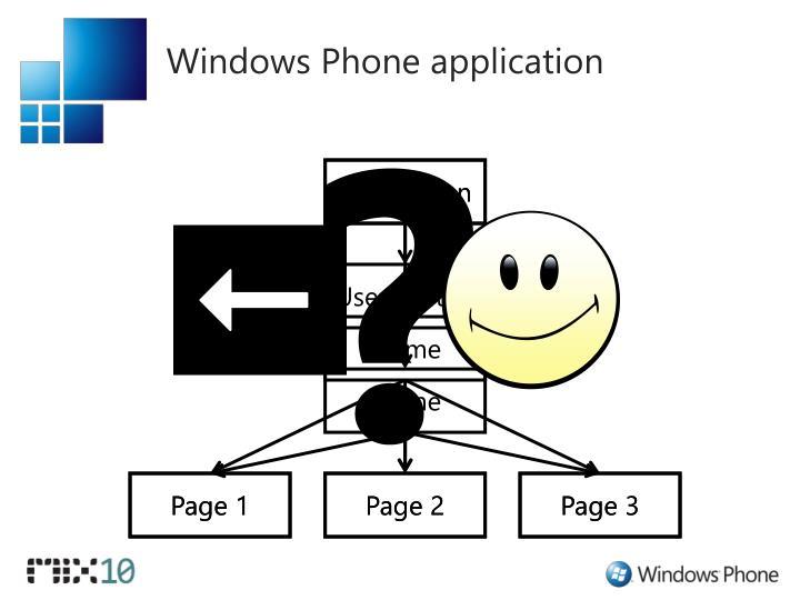 Windows Phone application