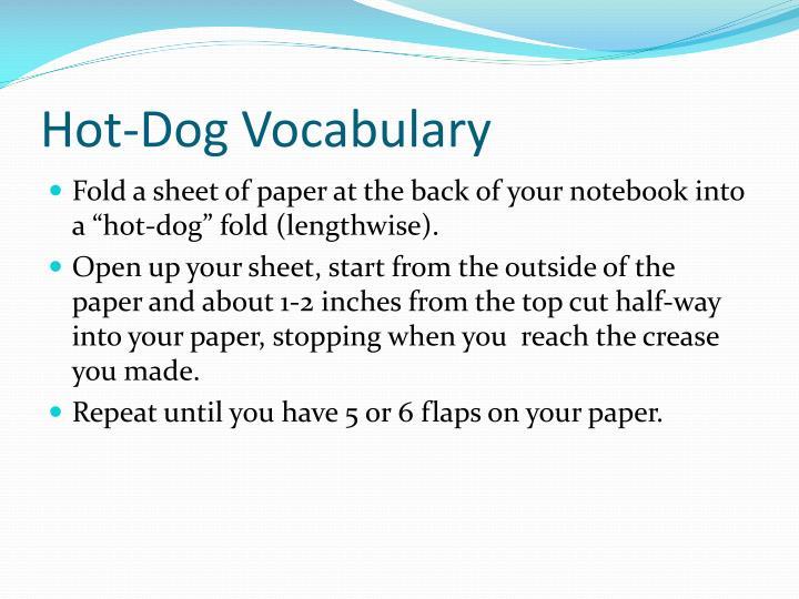 Hot-Dog Vocabulary