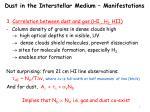 dust in the interstellar medium manifestations