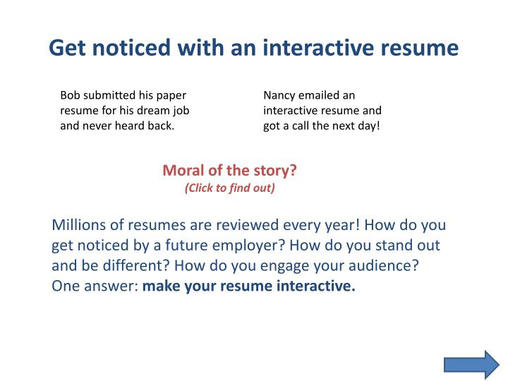 Get noticed with an interactive resume