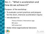 all 1 what is acceleration and how do we achieve it