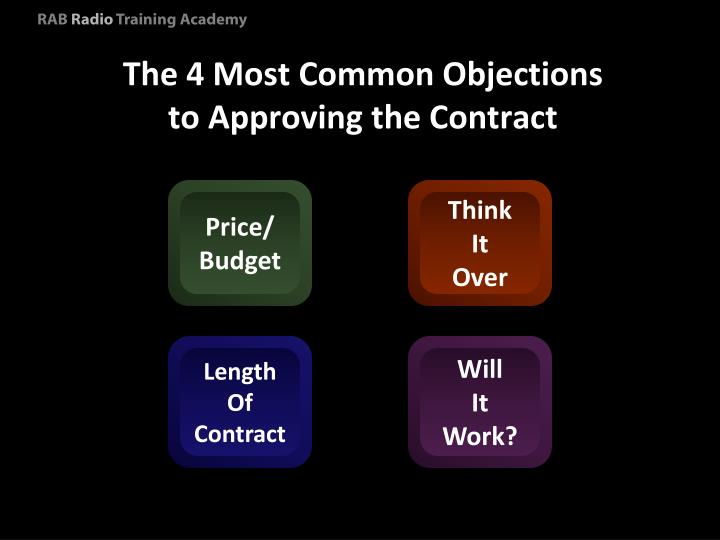 The 4 Most Common Objections to Approving the Contract
