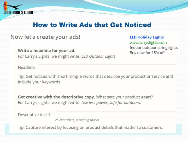 How to Write Ads that Get Noticed