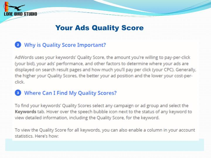 Your Ads Quality Score