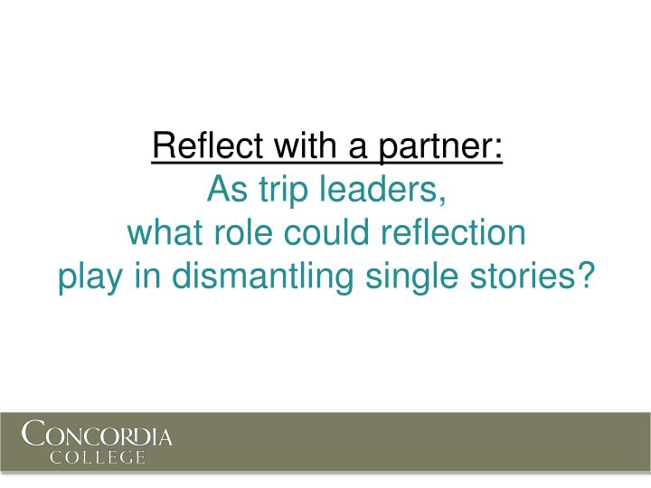 Reflect with a partner: