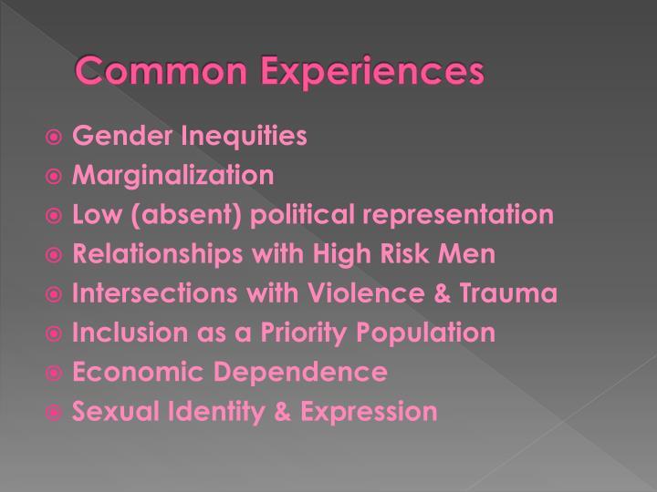 Common Experiences