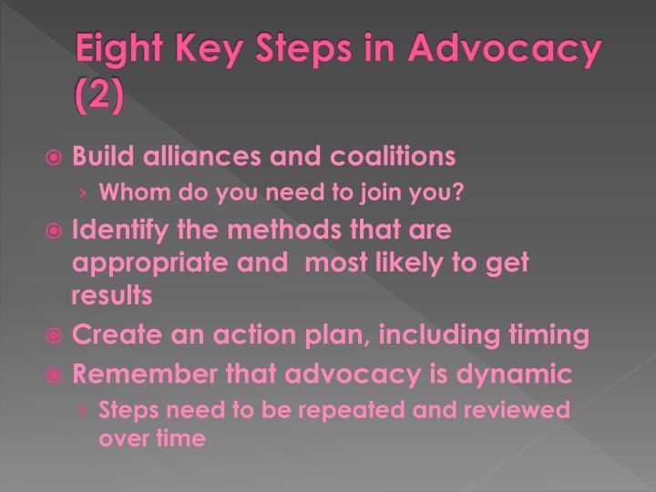 Eight Key Steps in Advocacy (2)