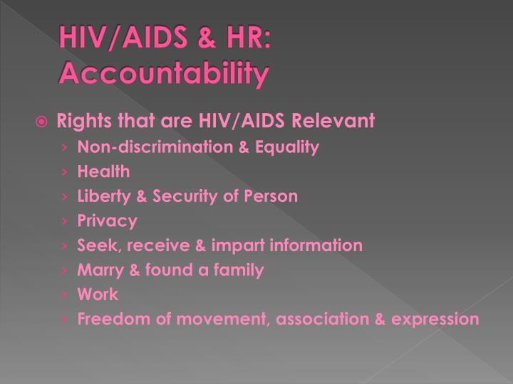 HIV/AIDS & HR: Accountability