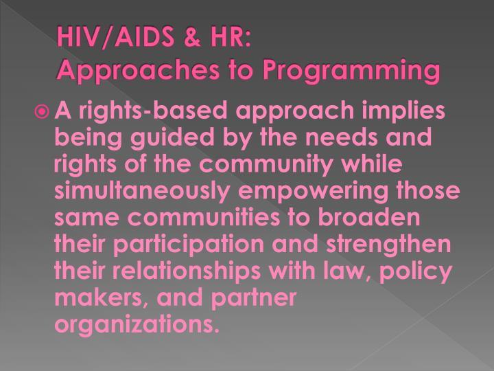 HIV/AIDS & HR: