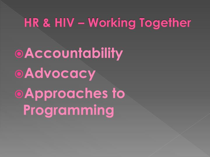 HR & HIV – Working Together