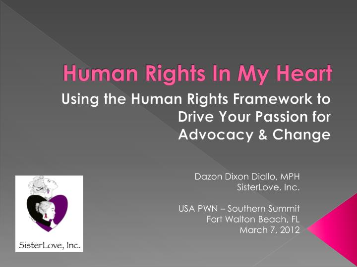 Human rights in my heart