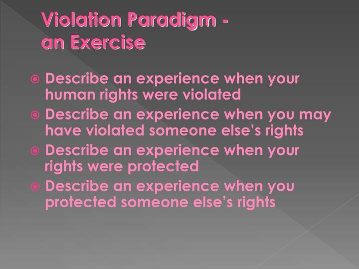 Violation Paradigm -