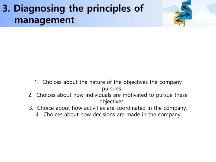 3. Diagnosing the principles of management