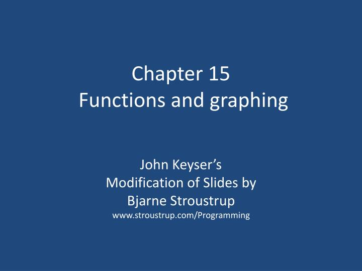 chapter 15 functions and graphing n.