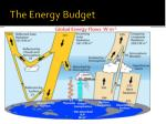 the energy budget