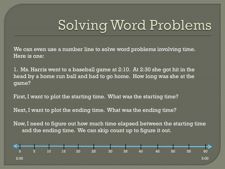 Solving Word Problems