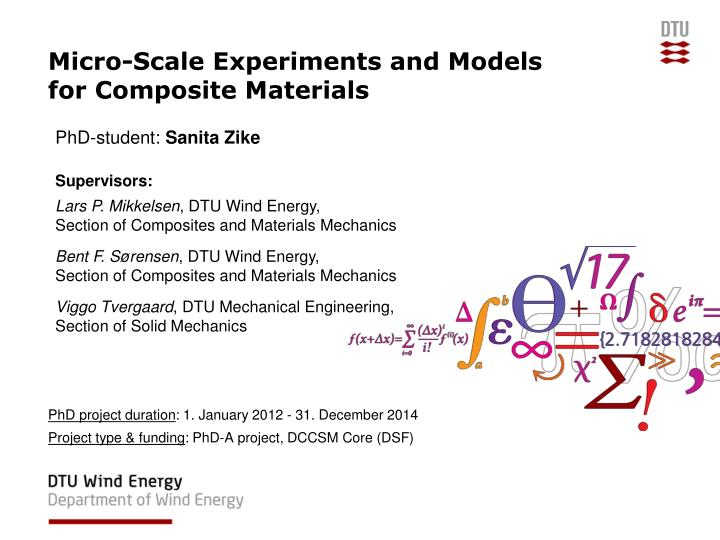 micro scale experiments and models for composite materials n.