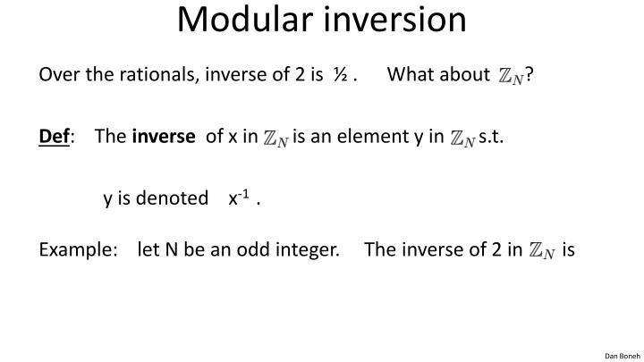 Modular inversion