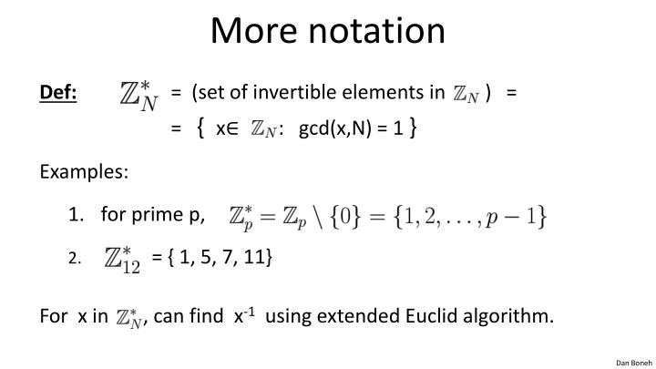 More notation