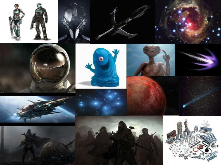 These images are great for inspiring a fictional space setting