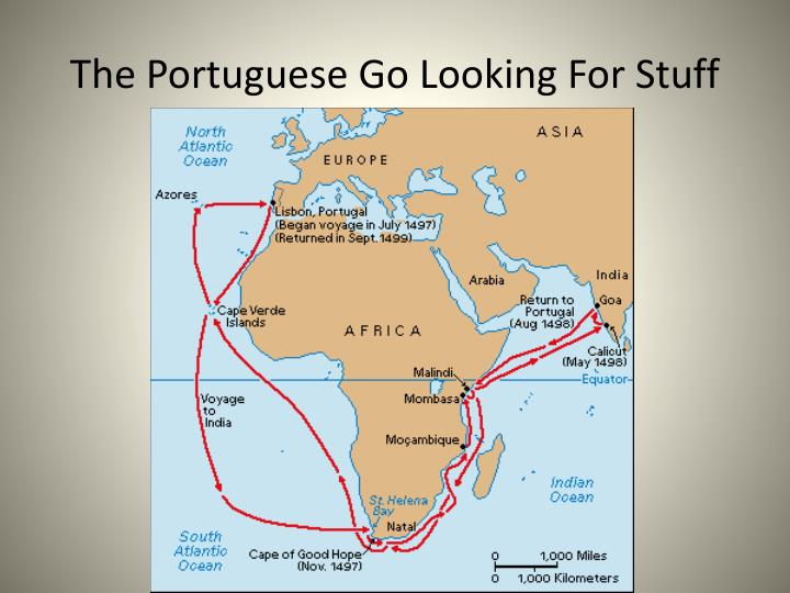 The portuguese go looking for stuff