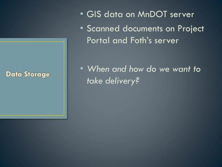 GIS data on MnDOT server