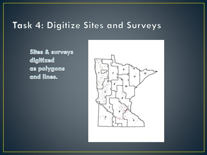Task 4: Digitize Sites and Surveys