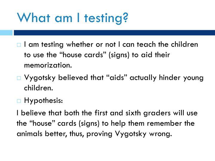 What am I testing?