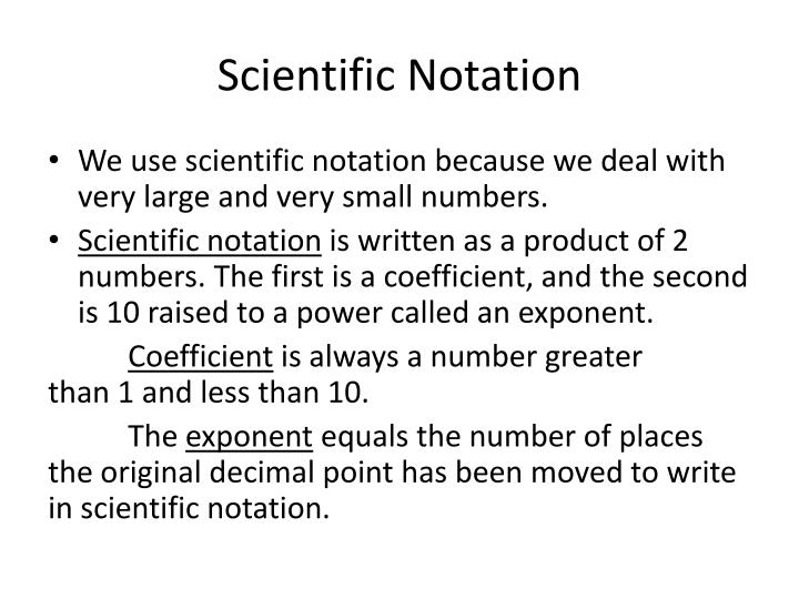 Scientific notation1