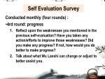 self evaluation survey4
