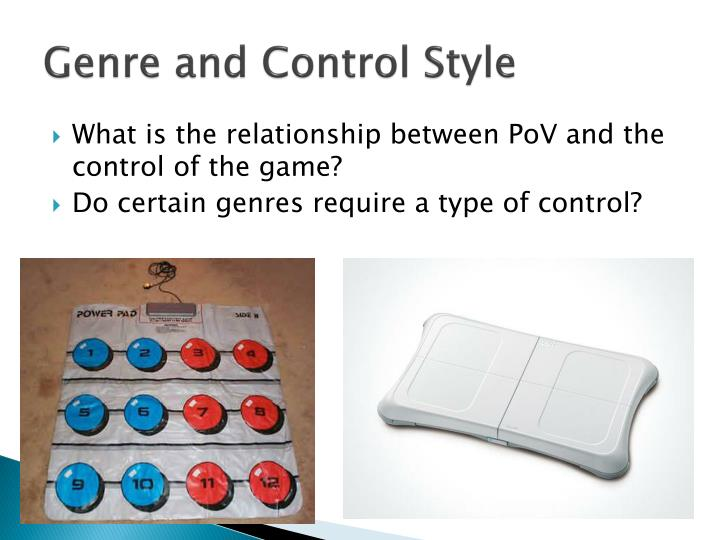 Genre and Control Style