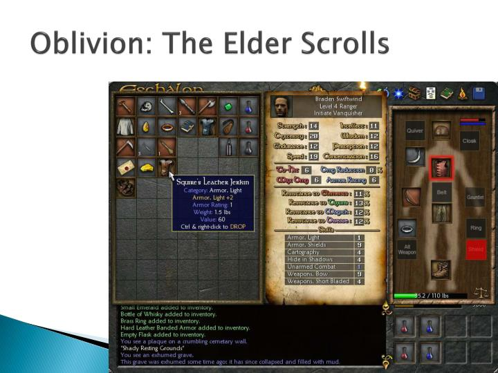 Oblivion: The Elder Scrolls